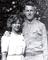 Captain Wayne Lear and new wife, Della Marie soon after their marriage in 1945 - Baited Trap, The Ambush of Mission 1890 - BelleAire Press